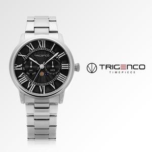 TG-0101M-BK [남성용 시계] [문페이즈] [트리젠코 한국본사정품]